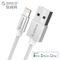 ORICO USB Cable for iPhone 7 2.4A MFi Lightning to USB Cable Fast Charger Data Cable For iPhone 5 6 iPad Mobile Phone Cables