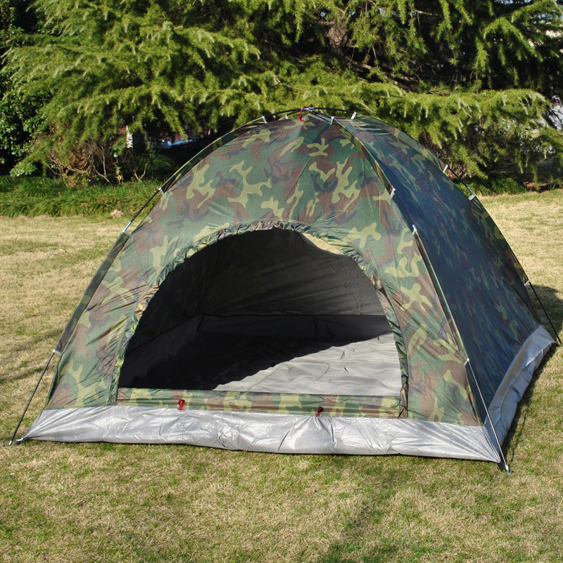 Outdoors Camping Camouflage Tent Ultralight Beach Awning Single Layer Military Tents 3-4 Person Barraca Tente naturehike outdoor camping tent 2 person 3 season double layer barraca camping tente waterproof ultralight tents