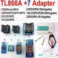 Tl866a programador 7 adaptadores de alta velocidade PLCC extractor TL866 AVR PIC Bios 51 MCU EPROM programador manual russo inglês