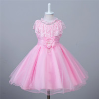 Korean Short Kids Prom Dresses 3 Colors Princess Party Wear Girl 3 To 10 Years Children