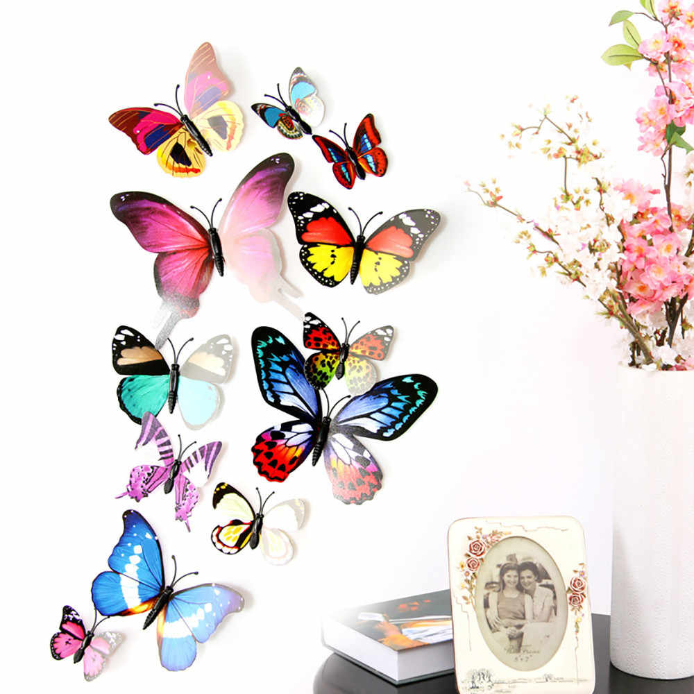 Detail Feedback Questions About 12PCS 3D PVC Butterfly Wall Sticker