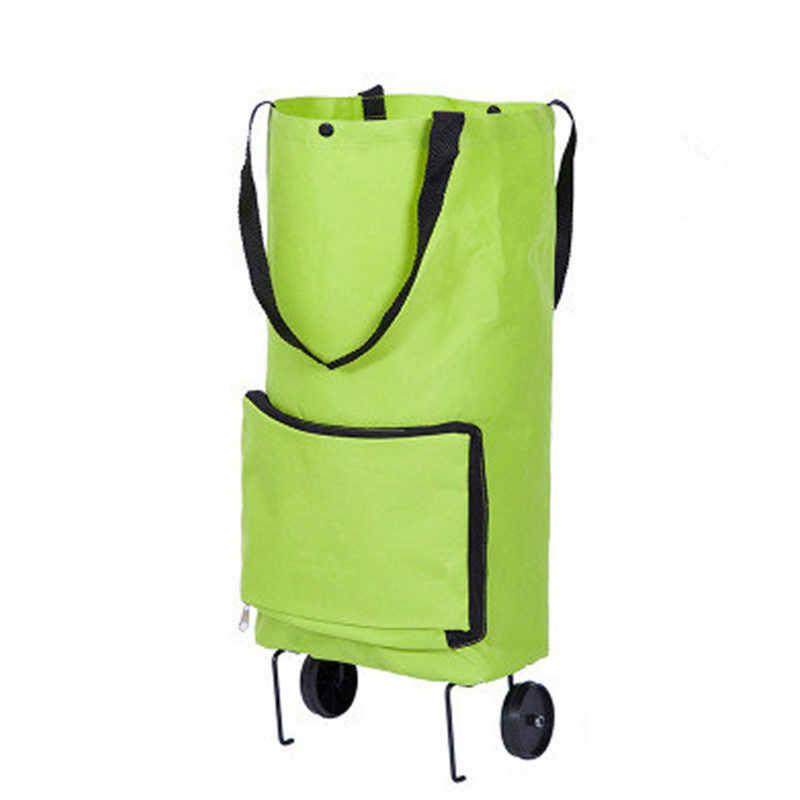 Twórcze nowe kobiety środowiskowe składane miejsce do przechowywania wielofunkcyjna torba wózek na zakupy holownik pokrowiec na wózek koła wielokrotnego użytku