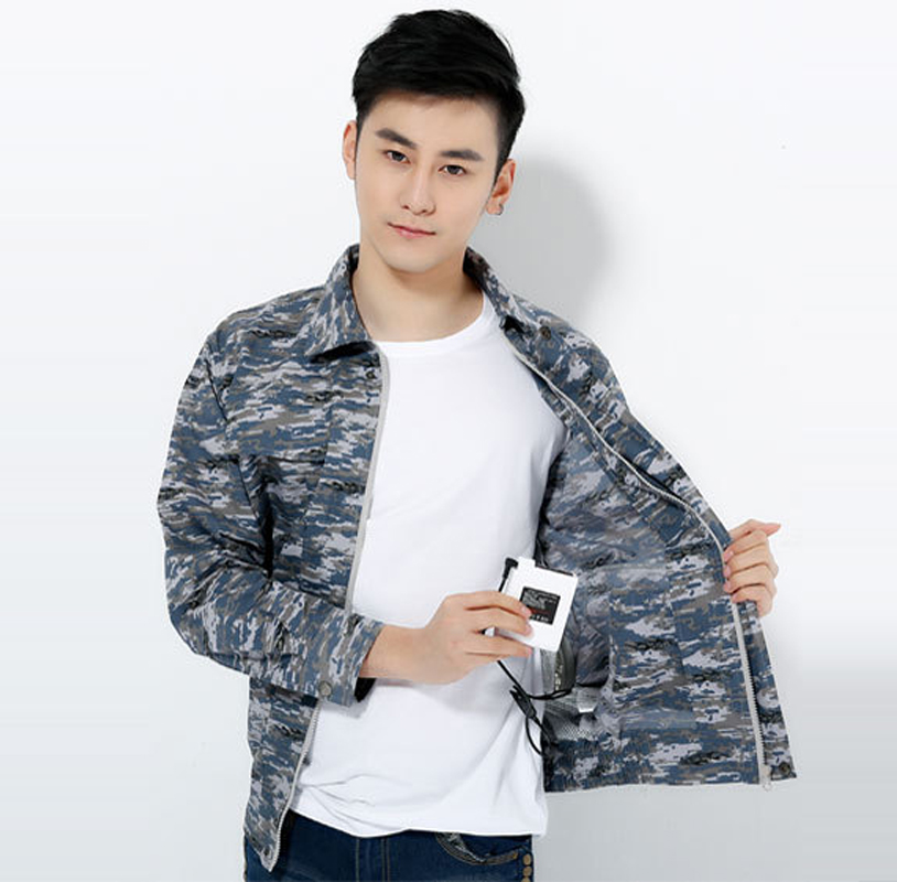 2018 summer hot fan air conditioning cooling clothes purposes under take fan cloth fishing outdoor Heatstroke 7.4V4400MAh camo