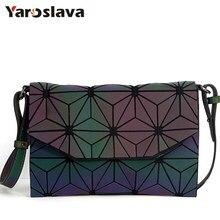 2019 модные геометрические Повседневное клатч Наплечные сумки световой дизайн Для женщин вечерняя сумочка; BS010 Курьерские сумки для девочек клапаном сумка LL709