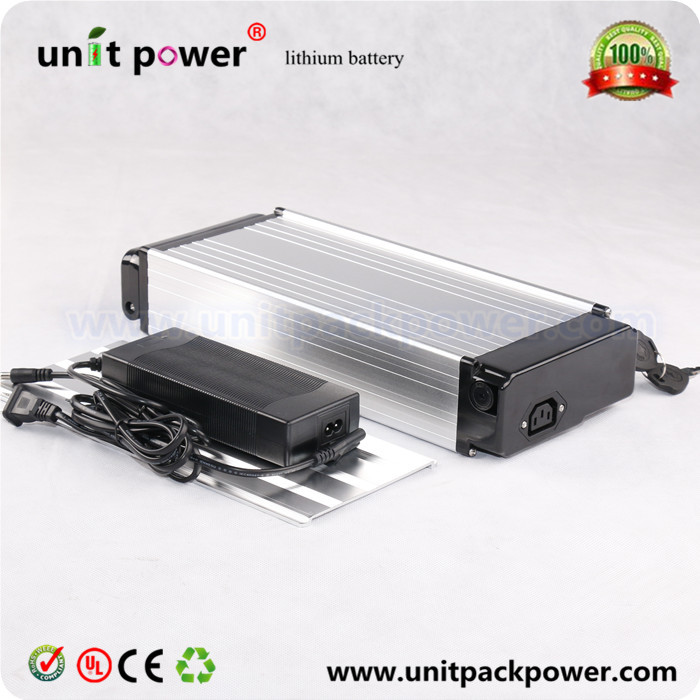 Hot sale rear rack lithium battery 48v 12Ah ebike li-ion battery 48v rechargeable  battery for electric bicycle  with charger 48v 15ah lithium ion li ion rechargeable chargeable battery 5c inr 18650 for electric bicycles 100km 48v power supply