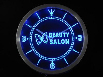 nc0258 Beauty Salon Butterfly Shop Neon Light Signs LED Wall Clock