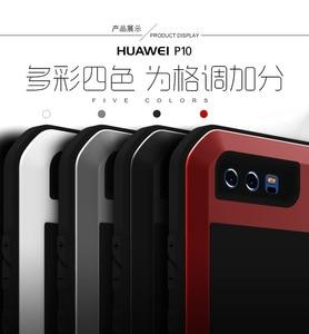 Image 5 - لهواوي P20 برو لايت حالة الحب مي قوية ضد الصدمات معدن الألمنيوم طبقة غوريلا جلاس غطاء حافظة لهاتف Huawei P10 زائد P9 زائد