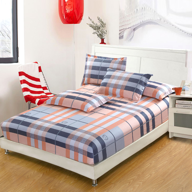 hot sale stripe bed fitted sheets 100 cotton fabric. Black Bedroom Furniture Sets. Home Design Ideas