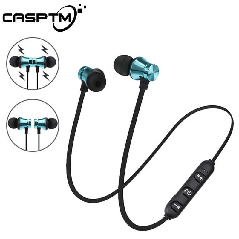 3e37809a75f CASPTM Magnetic Sport Bluetooth Headphones Wireless Stereo Earphone Headset  In Ear Running Earphones with Mic For