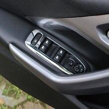 Carmilla ABS Хромированная Автомобильная внутренняя дверная ручка панель наклейка оконный переключатель Крышка отделка наклейка s для peugeot 2008- части