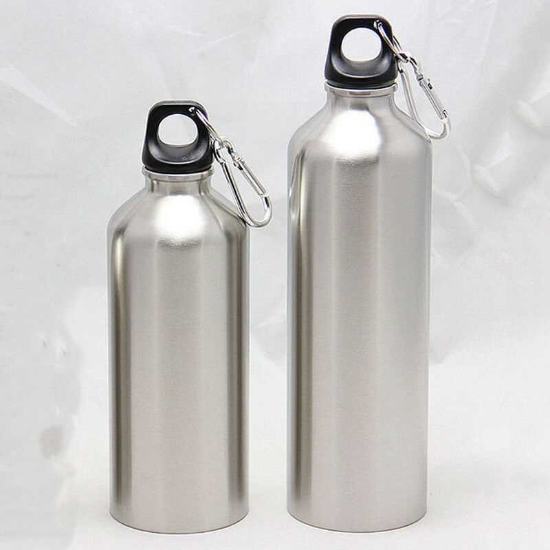 500 Ml 750 Ml Stainless Steel Botol Air Minum + Leak Proof Cap Gym Kantin Tumbler Botol Air dengan Tutup 25 Oz