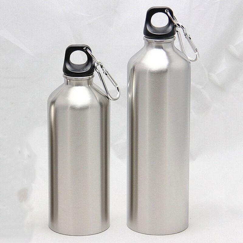 Спортивные бутылки для воды из нержавеющей стали 500 мл 750 мл + Герметичная крышка для спортзала столовая бутылка для воды с крышкой 25 унций