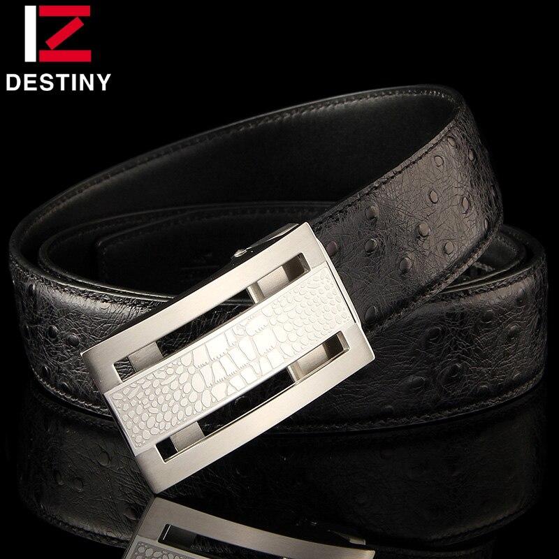 Cinturones de diseñador de destino hombres de alta calidad correa de cuero genuino de lujo famosa marca cinturón boda Acero inoxidable oro plata - 2