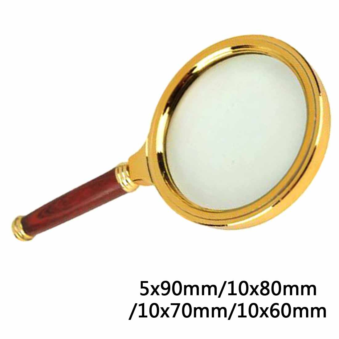 Magnifying Glass Loupe 90mm/80mm/70mm/60mm Handheld 5X/10X Magnifier Reading Jewelry Eye Loupe Magnifier Repair Tool