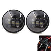 FADUIES 30W 4 1/2 4.5 inch LED Fog Light Auxiliary Driving Passing Lamp Spot Light For bike Road King