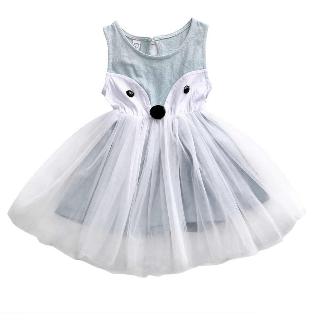 dda371ed05a Детское платье с лисой для маленьких девочек 0-5 лет в стиле Лолита  карнавальные праздничные