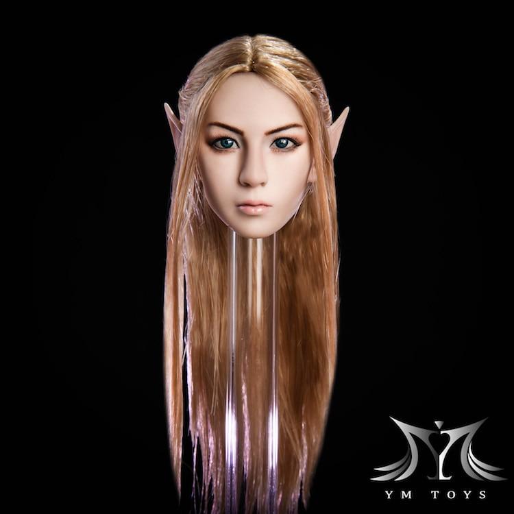 1//6 female Blond pale Head Sculpt Long hair For  PHicen Tbleagure figure