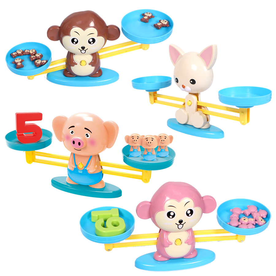 Monkey Balance Math Digital Funny Game For Children Early Education Learning Toy,puzzle Numbers Balance Family Interactive Toy Math Toys