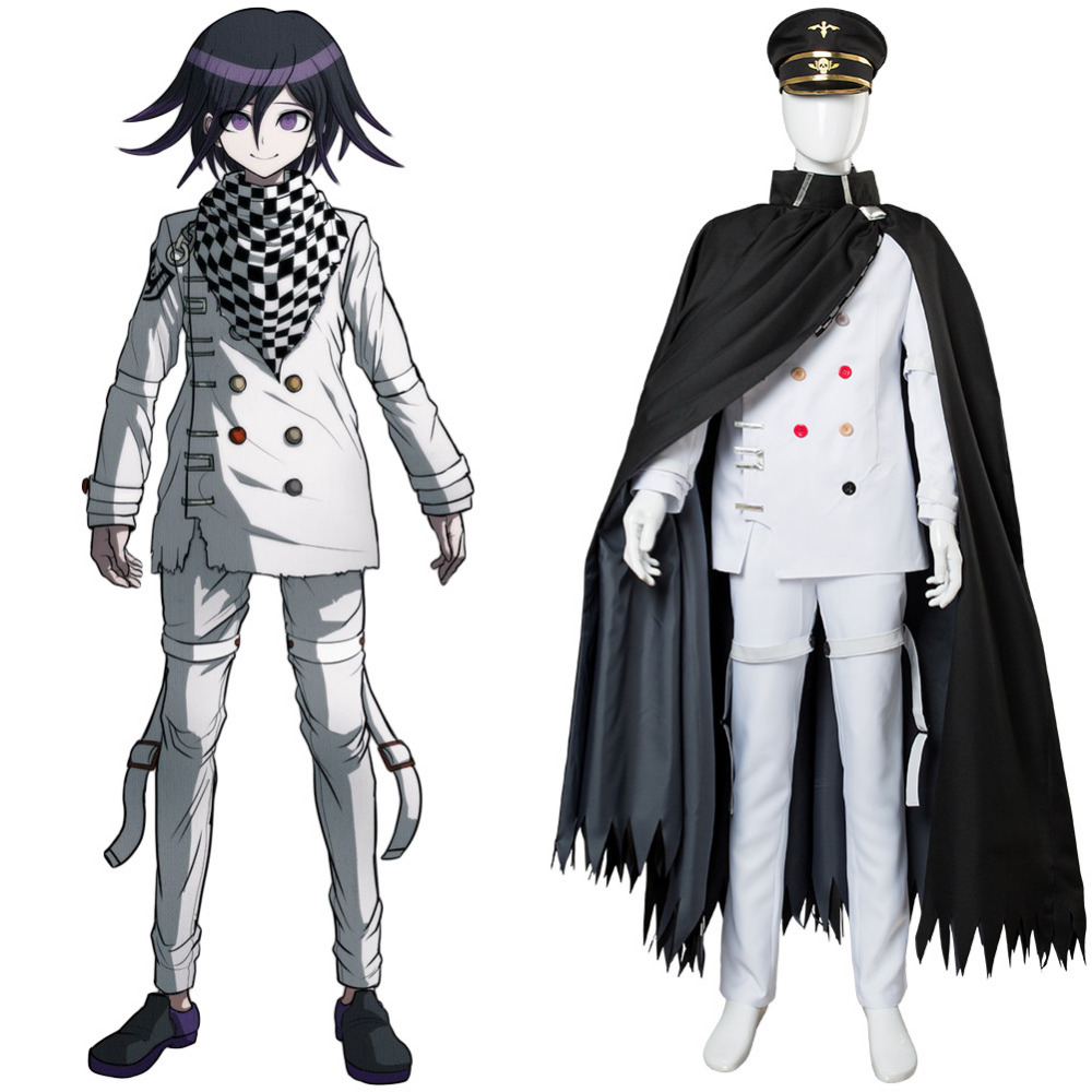 Danganronpa V3: Killing Harmony Ouma kokichi Cosplay Costume Adult Men Black Outfit Halloween Carnival Cosplay Costumes