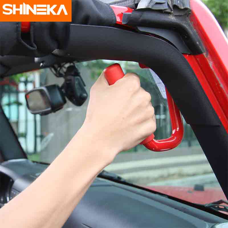 SHINEKA Grab Bar Handle Kit for Jeep wrangler JK 2007 2017 Front Rear Bars Aluminium 2 Door 4 Door Car Accessories for Jeep JK in Interior Mouldings from Automobiles Motorcycles