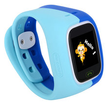 The two generation of soft touch screen smart phone watch with WeChat LED intercom positioning children