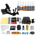 Beginner Rotary Tattoo Kit Tatoo Machine 7 Color Inks professional Tattoo gun Power Supply Power Tip Tube And Needles body art