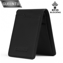 GUBINTU Purses Mens Genuine Leather Wallet Slim Front Pocket Men Walets Card