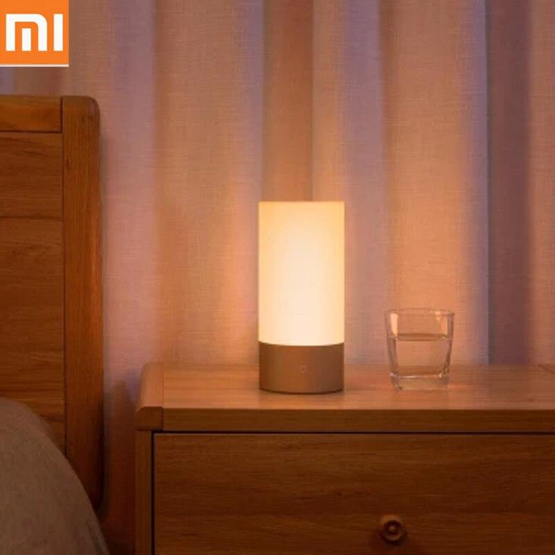 Xiao mi Bluetooth WIFI intérieur lit lumière pour mi jia mi maison APP lumière intelligente lampe de chevet 16 mi llion RGB lumière contrôle tactile chaud