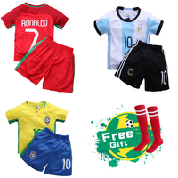 HIMIPOPO 2017 Children Football Sets Short Boys Sports Clothing V Neck Kids Soccer Clothes Pullover Child