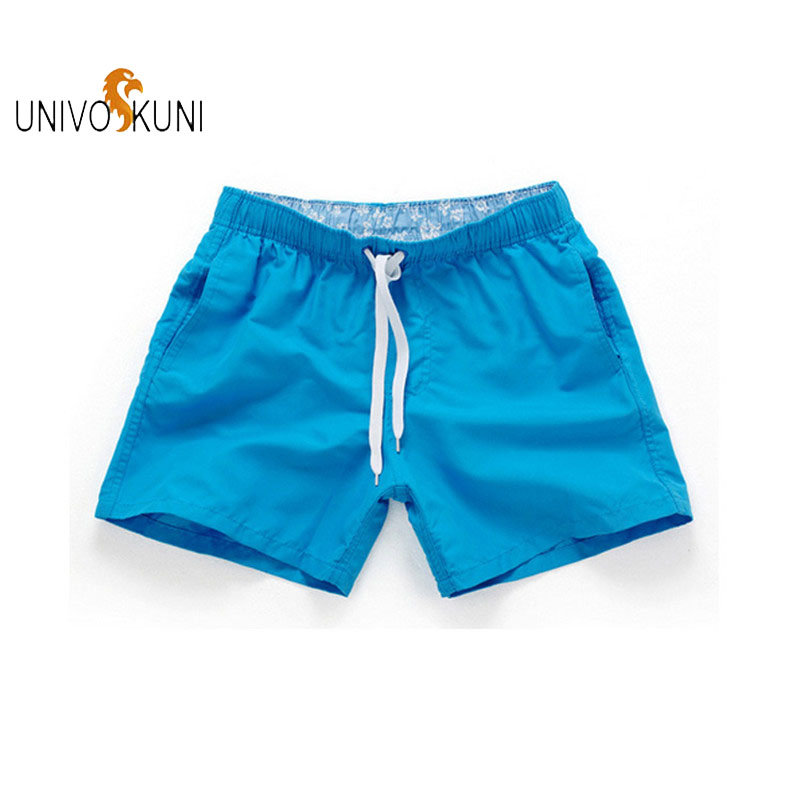 UNIVOS KUNI 2018 Summer New Fashion Casual Men Shorts Beach High Quality 18 Colors Comfort Inner Print Manner Shorts XXL J75