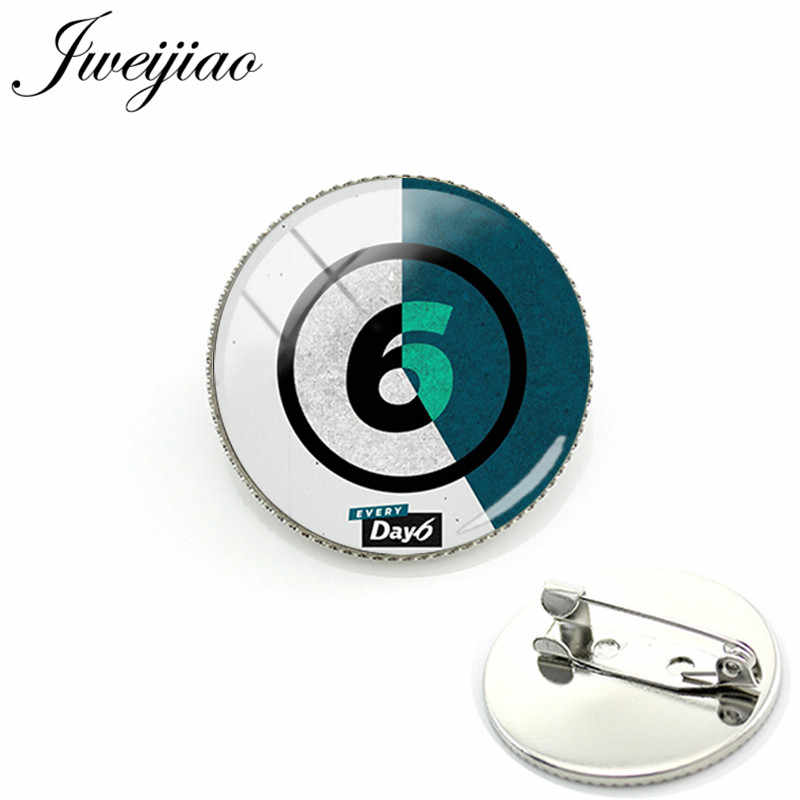 JWEIJIAO Korean Day6 Badges Brooch Remember Us Youth JAE SUNGJIN Photo Glass Cabochon Metal Pin Brooches Fans Gift DAY19