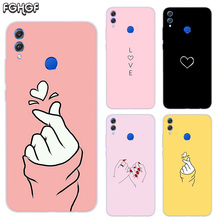 Loves Frosted Fundas Soft TPU Print Case For Huawei Honor V20 8X 7 8 9 10 lite 7X 8A V9 Play Cover