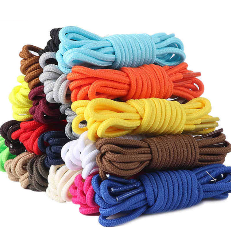 1 Pair Round Shoelace 8 Colors Fashion 90cm 120cm Rope Shoelaces Round Casual Sneakers Shoelaces Skate Boot Shoe Laces Strings
