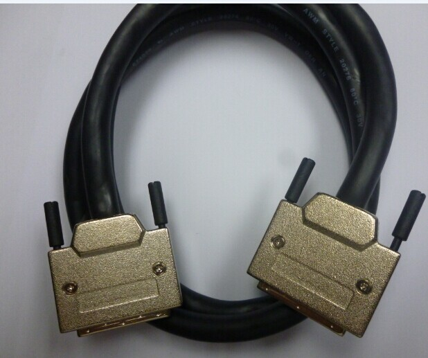 VHDCI to VHDCI male 68 pins to male 68 pins 3M SCSI Cable VHDCI 68-VHDCI 68 3 meters compatible 530-3630-01 AMPHENOLVHDCI to VHDCI male 68 pins to male 68 pins 3M SCSI Cable VHDCI 68-VHDCI 68 3 meters compatible 530-3630-01 AMPHENOL