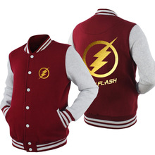 Spring Baseball Coats The Flash hoodie Anime Justice League Hoodies Men Sweatshirts Hot Sale USA EU size Plus size