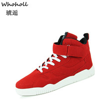Whoholl 2019 Hot Men Shoe Fashion Warm Fur Winter Boots Autumn Leather Footwear for Man New High Top Canvas Casual Shoes
