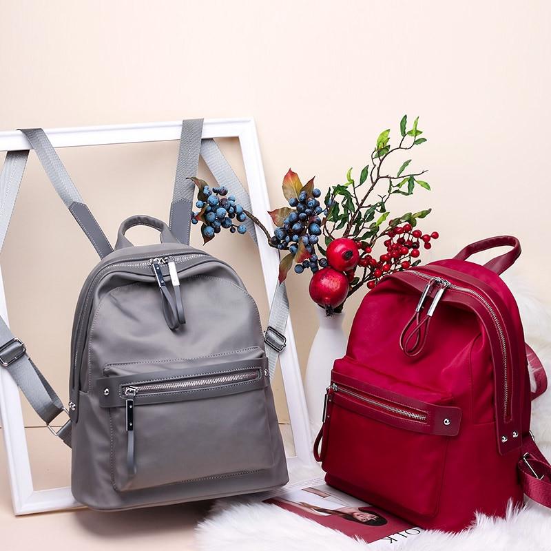 Fashion Women Backpack Nylon Backpacks for Teenage Girls Casual School Daypack Large Capacity Men Shoulder Bags Female Mochila