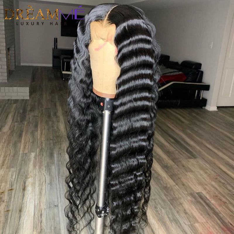 Image 5 - 13*6 Deep Part Lace Front Human Hair Wig For Black Women PrePlucked Brazilian Deep Wave Wig With Baby Hair Remy Wig Full End-in Human Hair Lace Wigs from Hair Extensions & Wigs