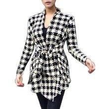 Winter Women Cotton Blend Jackets  Girl Blouse Slim Long Sleeve Open Stitch Belt Coat Outerwear