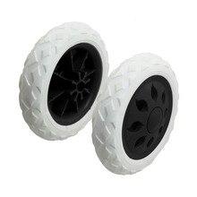 uxcell 2 Pcs Black White Hot Wheel Design Travelling Luggage Cart Wheels