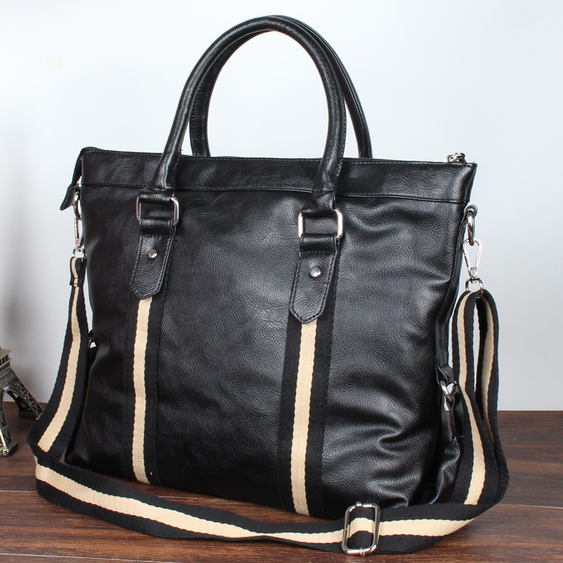 ФОТО Men bangalor Korean leisure Xiekua package are portable computer PU leather briefcase bag direct supply #PP FREE SHIPPIN