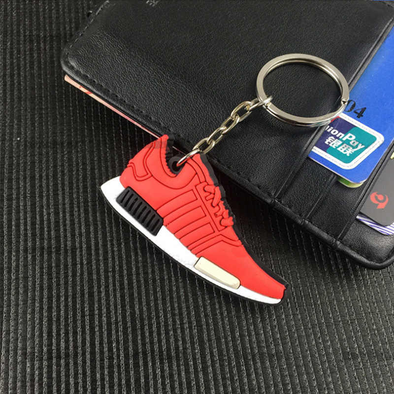 ... Shoe Keychain Key Chain Jordan Shoes Sneaker Car Key Holder Mini  Silicone key keyring Woman Men ... fda3d5a660a5