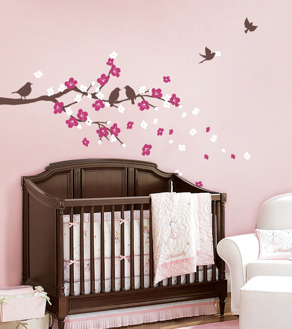 Cherry Blossom Tree Branches Wall