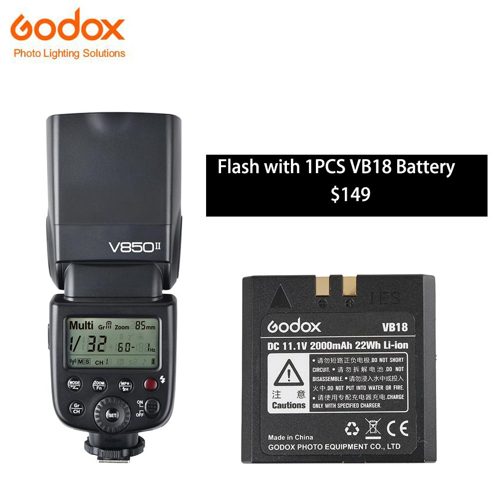 Godox V850ii Camera Flash Speedlight 24g Hss With 2000mah Li Ion Light Circuit Back Battery For Canon Nikon Pentax Olympas In Flashes From Consumer Electronics On