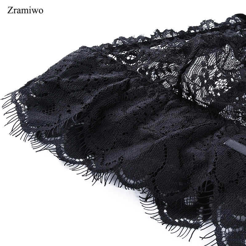 16b8a3bbca ... Zramiwo Women s Lace Bra Panty Set Sheer Bralette Thong Top Sexy  Brassiere Underwear Bride Lingerie for ...