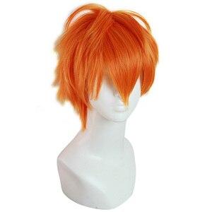 Image 2 - L email wig Haikyuu Hinata Shoyo and Sugawara Koushi Cosplay Wigs 25cm Heat Resistant Short Synthetic Hair Perucas Cosplay Wig