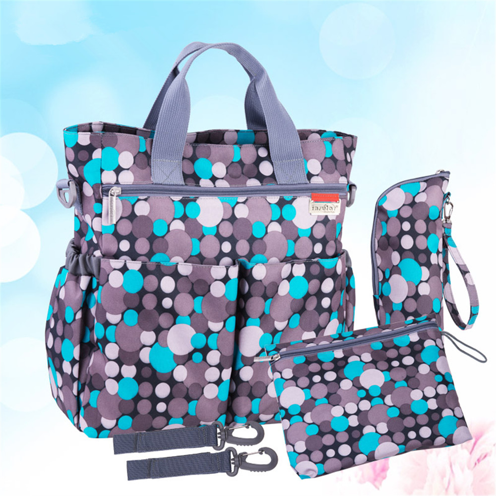 3 Colors High Quality Tote Baby Shoulder Diaper Bags Durable Nappy Bag Mummy Mother Baby Bag for mom Stroller Belt /w10 high quality cute dot baby diaper nappy bag maternity baby bags for mom multifunctional mother care bag durable stroller bag