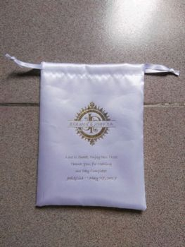high quality 100pcs drawstring bag white satin bag size 11*15cm satin jewelry bag custom gift pouch  free shipping by ePacket