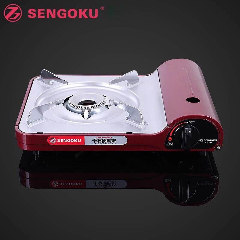 Cuisinière à gaz Portable Ultra-mince poêle à la maison en alliage d'aluminium pique-nique en plein air Camping cuisinière à gaz Portable four à Butane