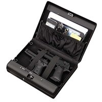 Fingerprint Pistol Safe Box Gun Vault Jewelry Cash MoneSafe Box Car Home Biometric Keyless